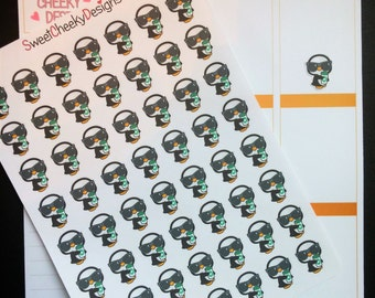 Cute Penguin Coffee Stickers!  Perfect for Erin Condren Life Planner, MAMBI/Happy Planner, Plum Planner, Etc.