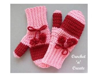 Crochet Adult Mitts Crochet Pattern (DOWNLOAD) CNC99