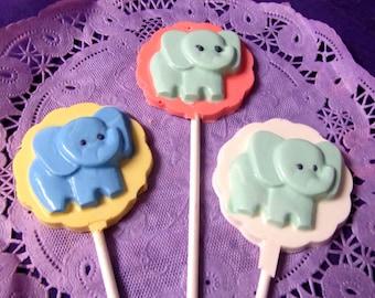 Baby Elephant chocolate lollipops