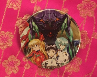 "Upcycled Neon Genesis Evangelion 2.25"" Button"