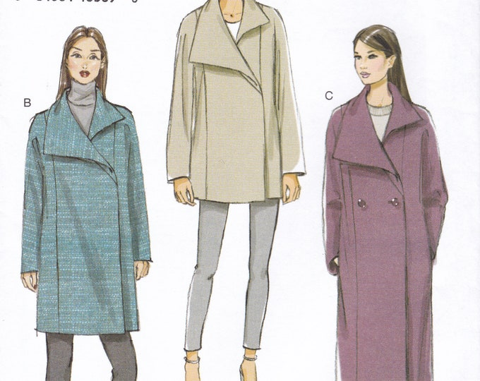 FREE US SHIP Sewing Pattern Vogue 9156 Coat Jacket Double Breasted  Size 4/14 16/26 Bust 29 30 31 32 34 36 38 40 42 44 46 48 Plus New