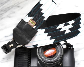 "Canvas DSLR or Mirrorless Camera Strap with Camera Hand Strap - 1.5""  wide - Native Camera Strap - Super Cool Camera Strap- 'Albuquerque'"