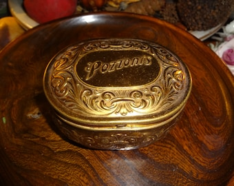 Brass Pozzoni's tin...highly collectible