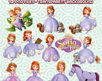 Sofia the First PNG, Princess Sofia, Sofia the first characters, Sofia the first Clipart, Instant Download 58