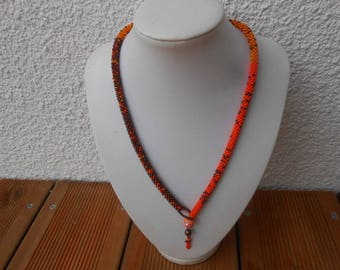 """""""Elisa"""" crocheted necklace with seed beads"""