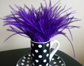 OSTRICH FEATHER FRINGE  Fresh African Violet, Regency Purple / 338