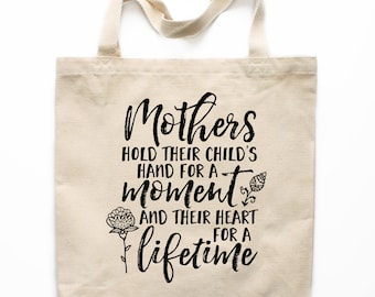 Mother's Day Gift Tote Bag, Mother's Day Canvas Bag, Canvas Tote Bag, Printed Tote Bag, Market Bag, Shopping Bag, Reusable Grocery Bag 0133