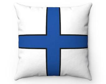Letter X  Nautical Flag Pillow