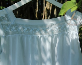 1960s nightgown in baby blue