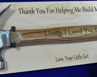 To Dad From Daughter ~ Father Of The Bride Gift ~ Engraved Hammer ~ Gift For Dad ~ Stepfather Gift ~ Engraved Dad Gift ~ Father's Day Gifts