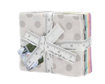 Circulus Fat Quarter Bundle - Moda Fabric - Jen Kingwell Fabric Polka Dots Fabric Quilt Fabric Collection of 10 Fabrics 18131AB