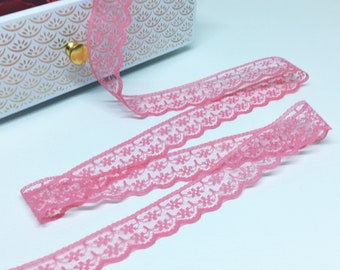 Ribbon lace, guipure Rose 20mm wide