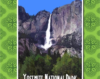 Yosemite Travel Poster Wall Decor (7 print sizes available)