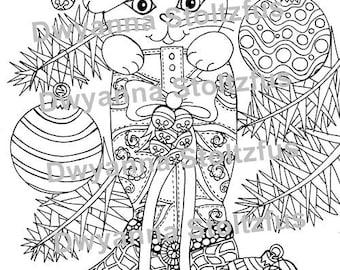 Tangled Christmas Stocking Coloring Page Jpg
