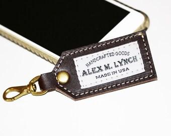 Alex M Lynch Leather key fob - leather keychain - FREE shipping 010098