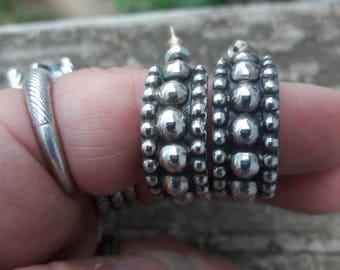 Sterling Silver 925 Hoop Earrings