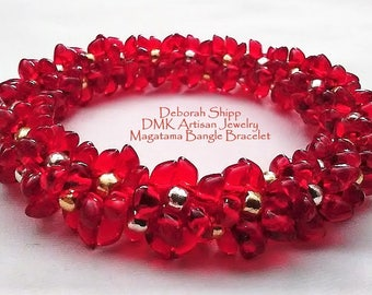 TUTORIAL ONLY - Magatama Bangle Bracelet