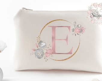 Bridesmaid proposal gifts Thank you for being my bridesmaid gifts Custom bridesmaids gifts Monogram makeup bag Personalized cosmetic bags