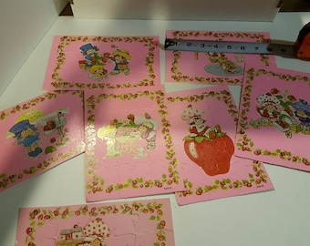 Vintage Strawberry Shortcake puzzles