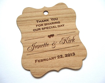 Wooden Tags (100), Gift Tags, Wedding Favor Tags, woodHang Tags, Wood tags, Custom tags  - Wood Personalize wood tags