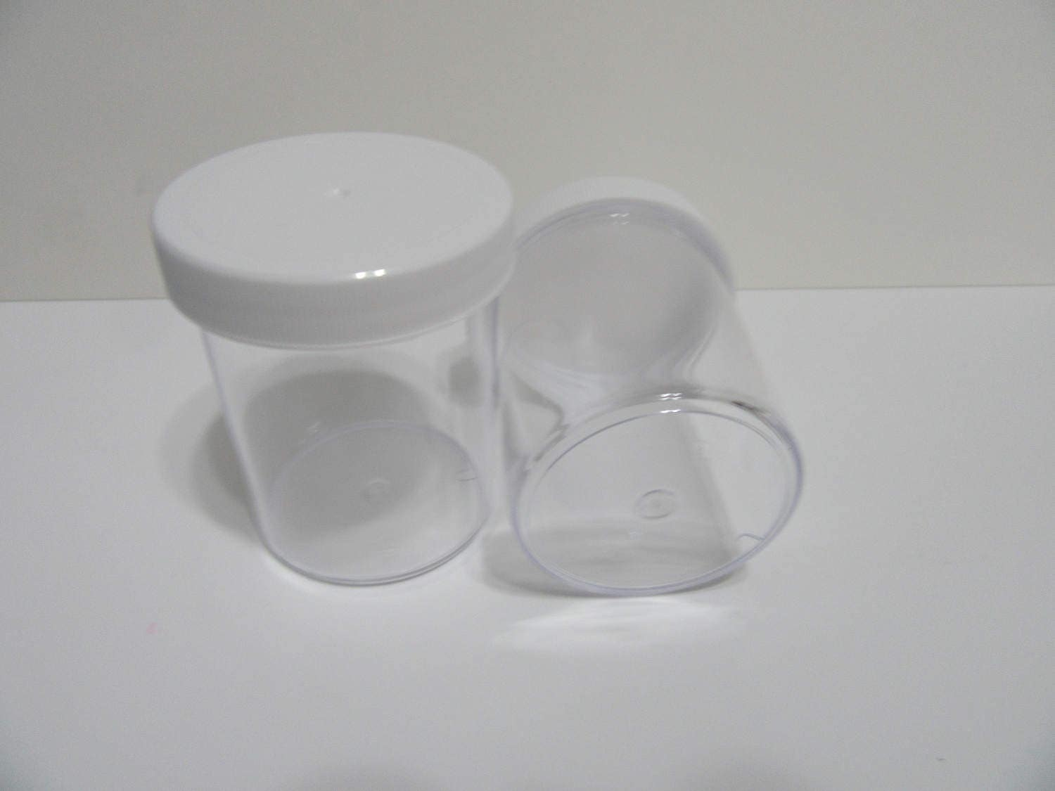 4oz Clear Plastic Containers with Screw on Lids