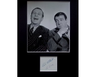 ABBOTT and COSTELLO AUTOGRAPH photo display Bud Abbott and Lou Costello