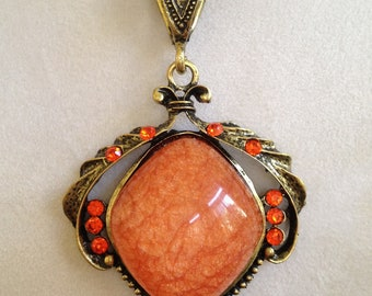 Orange Sparkle Necklace