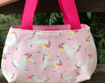 Pink unicorn Little Girl's Purse Ready to ship