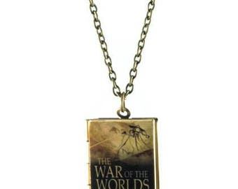 The War of the Worlds Book Locket Necklace
