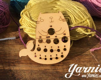 Purrmaid - Mermaid Cat Kitten Yarnies Knit and Crochet Tool