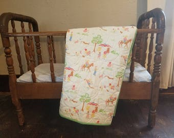 NEW PRICE! Vintage Inspired Baby Quilt