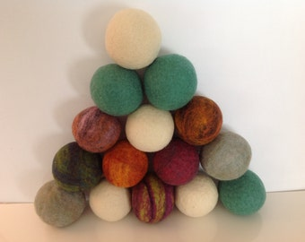 Handfelted Dryer Balls - set of 3