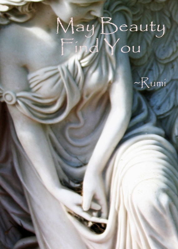 """""""May Beauty Find You"""" ~ Rumi (5"""" x 7"""" photographic greeting card - blank inside/with envelope)"""