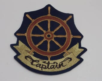 Nautical Iron-On Patch. Embroidered Patch. Sew-on Patch. Glue-on Patch. Captain Patch