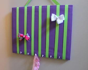 Bow Holder Purple Headband Holder Hair Bow Holder Hair Bow Organizer Hair Clip Holder Frame Board Hair Organizer Large 16x20