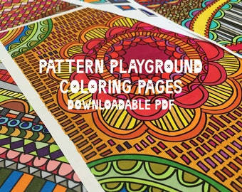 Pattern Playground coloring pages (digital download)