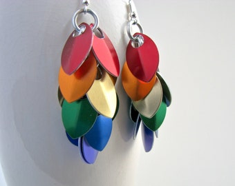 ON SALE True Colors Rainbow Pride Scale Chandelier Earrings