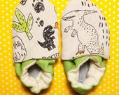 Newborn slippers, dinosau...