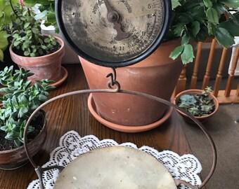Antique John Chatillion Scale, Farmhouse scale, Country Store 24lb Scale