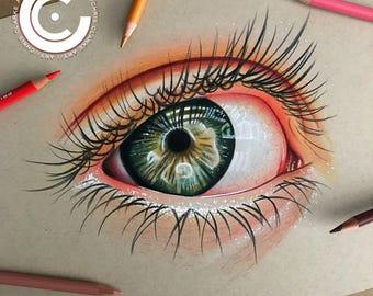 Realistic Eye A4 Original
