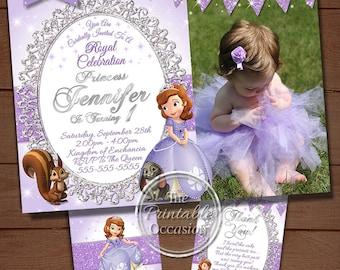 Princess sofia birthday invitation princess photo invitation sofia the first birthday invitation princess sofia birthday invitation sofia the first birthday filmwisefo Images