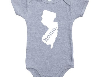 Homeland Tees New Jersey Home Unisex Baby Bodysuit