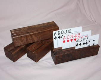 Wooden Playing Card Blocks - Set of 4