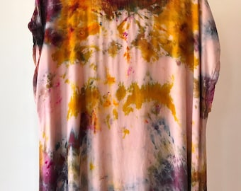 One of a Kind, Ready to Ship, Hand Dyed Tank Dress in Vintage Rose, Size XLarge,  Anna Joyce, Portland, OR