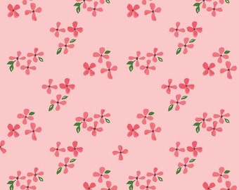 Organic DOUBLE GAUZE Fabric - Monaluna Bloom - Blossoms Double Gauze