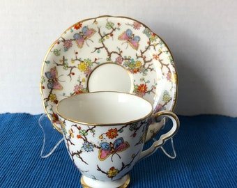Royal Stafford Butterfly Teacup and Saucer