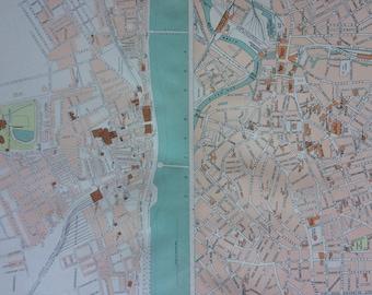 Sheffield city map Etsy