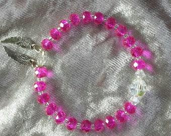Kids Guardian Angel Energised Crystal Bracelet - Angel Pink