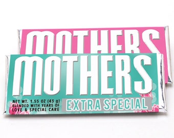 Mother's Day Candy Bar Wrapper for Hershey Bars  - Mothers Day Candy Wrappers - Custom Made Mothers Day Hershey Bar Wrappers