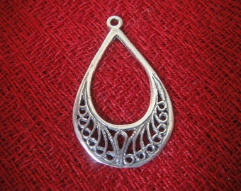 925 sterling silver oxidized earring finding 1 pc is 3x1.8 cm